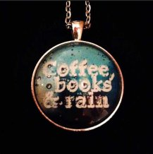 Coffee Books and Rain Necklace