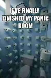 coronavirus toilet paper panic room