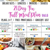 21 Day Fix Meal Plan Vol. 6 {All Meals | All Brackets | Free Printables}
