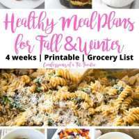 Healthy Meal Plan for Fall and Winter [Printable]