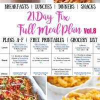 21 Day Fix Meal Plan Vol. 8 {All Meals | All Brackets | Free Printables}