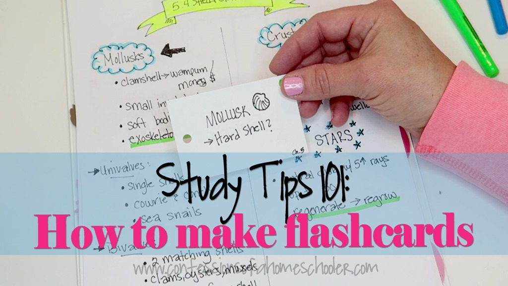 Study Tips #2 How To Create Useful Study Tools (aka Flashcards!)  Confessions Of A Homeschooler