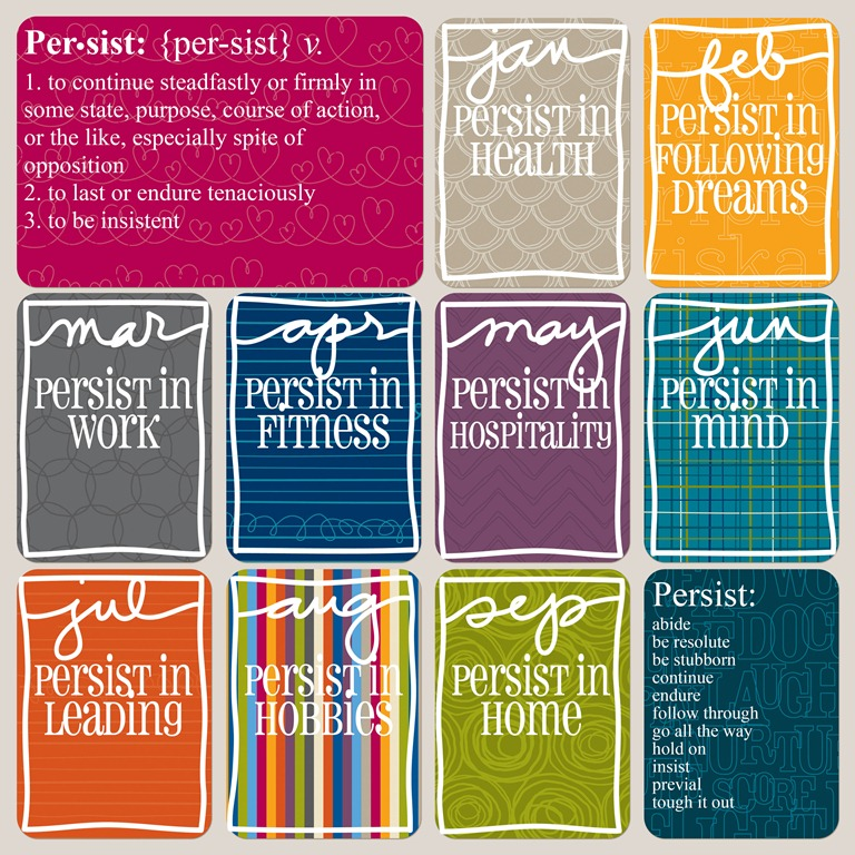 My One Word for 2013 Persist  I Heart Planners