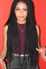 box braids . marley twists