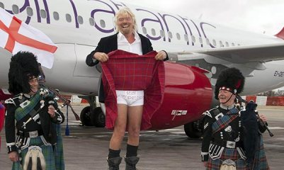 In true over-the-top style, Virgin's short-haul venture 'Little Red' was launched by Sir Richard in March 2013, with flights from Heathrow to Aberdeen, Edinburgh and Manchester.