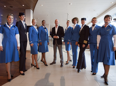 KLM currently employees over 8,000 cabin crew and their iconic blue uniform is recognised around the world. The latest incarnation was launched in 2010 (albeit just for the ladies) and was created by Dutch designer Mart Visser, the first update in over 20 years! As the saying goes 'If it ain't broke, why fix it'. KLMs uniform also made our 2016 Style in the Aisles Top 10 Cabin Crew uniforms - https://confessionsofatrolleydolly.com/2016/11/15/style-in-the-aisles-the-top-ten-cabin-crew-uniforms-2016/