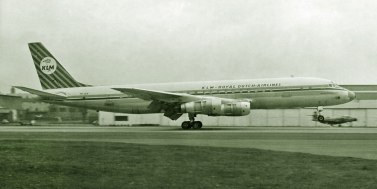 In March 1960 KLM introduced its first jet aircraft into the fleet, with the arrival of the Douglas DC-8. This began a long co-operation between the American aircraft manufacturer and the airline, which included operations with the DC-9, DC-10, and MD-11.