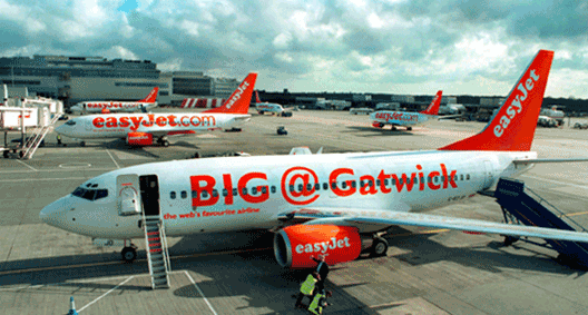 easyJet is the biggest airline at London's Gatwick Airport (LGW), operating over 100 routes after opening a base here in June 2001.
