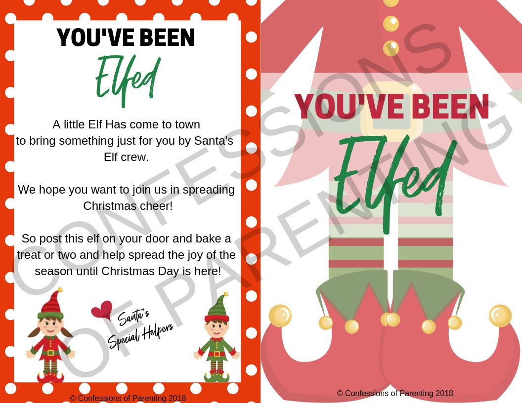 "Are you looking for a fun way to spread holiday cheer this year? Well, look no further! Start the ""You've been Elfed"" Tradition this year for a fun way to spread the joy of the season!"