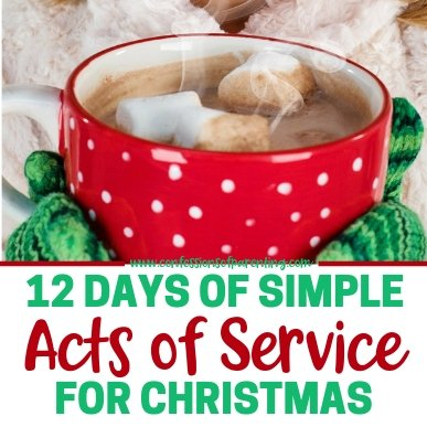 Are you looking for ways to get your kids involved in service this holiday season? Consider doing 12 Days of Simple Acts of Service for Christmas.