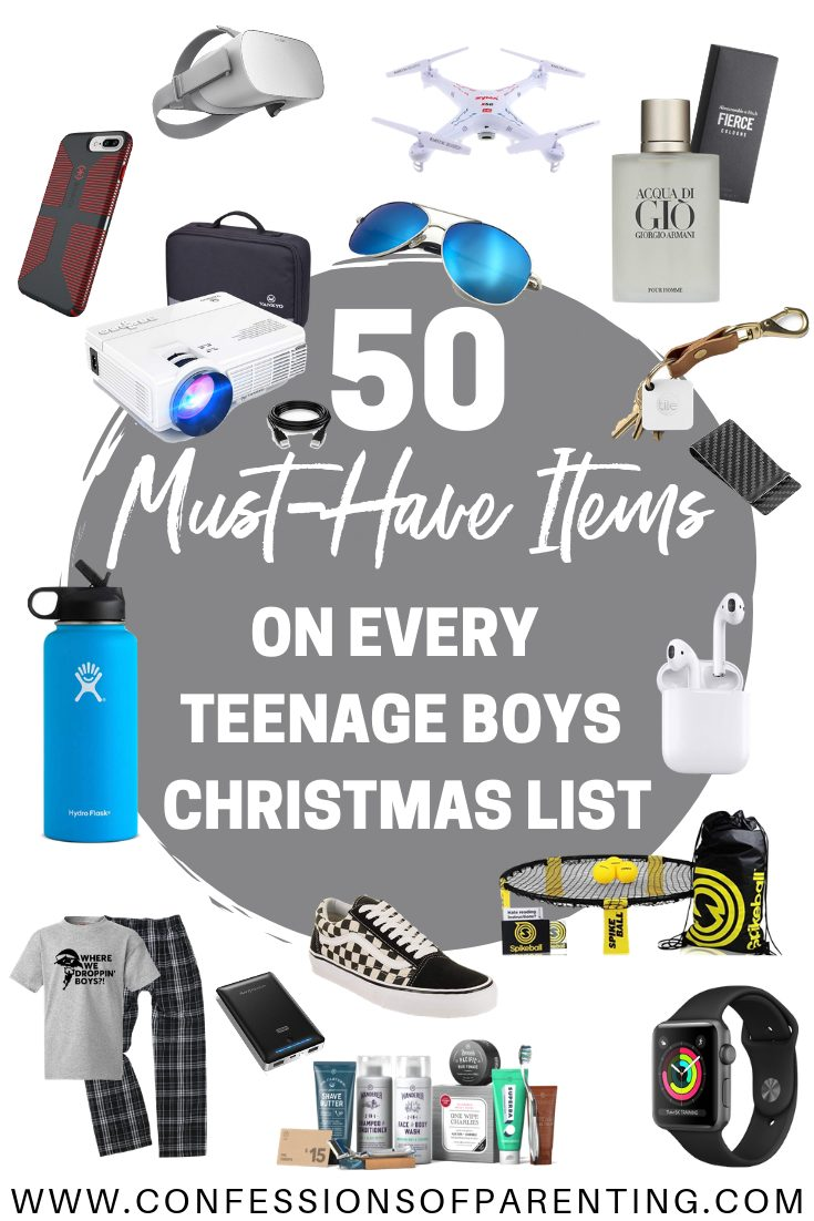Shopping for a teenage boy can be so hard! We have 50 must-have Items on every teenage boys' Christmas List
