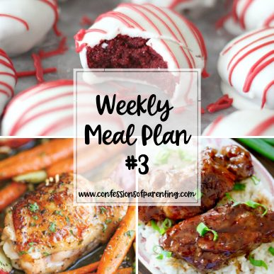 "This is the best meal plan for busy moms! Come back weekly so you and your kids don't have to ask ""what's for dinner?"" every night!"