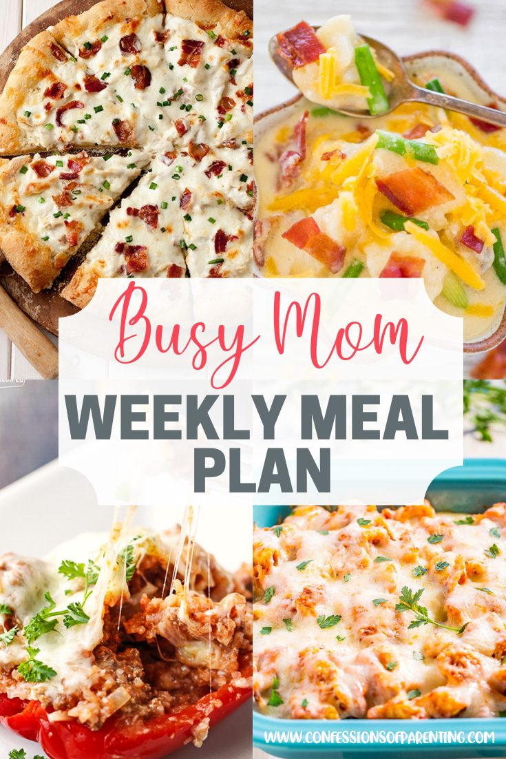 This weekly meal plan for busy moms is the perfect solution to cut out one more thing on your long to-do list. The bonus is that these recipes are scrumptious!