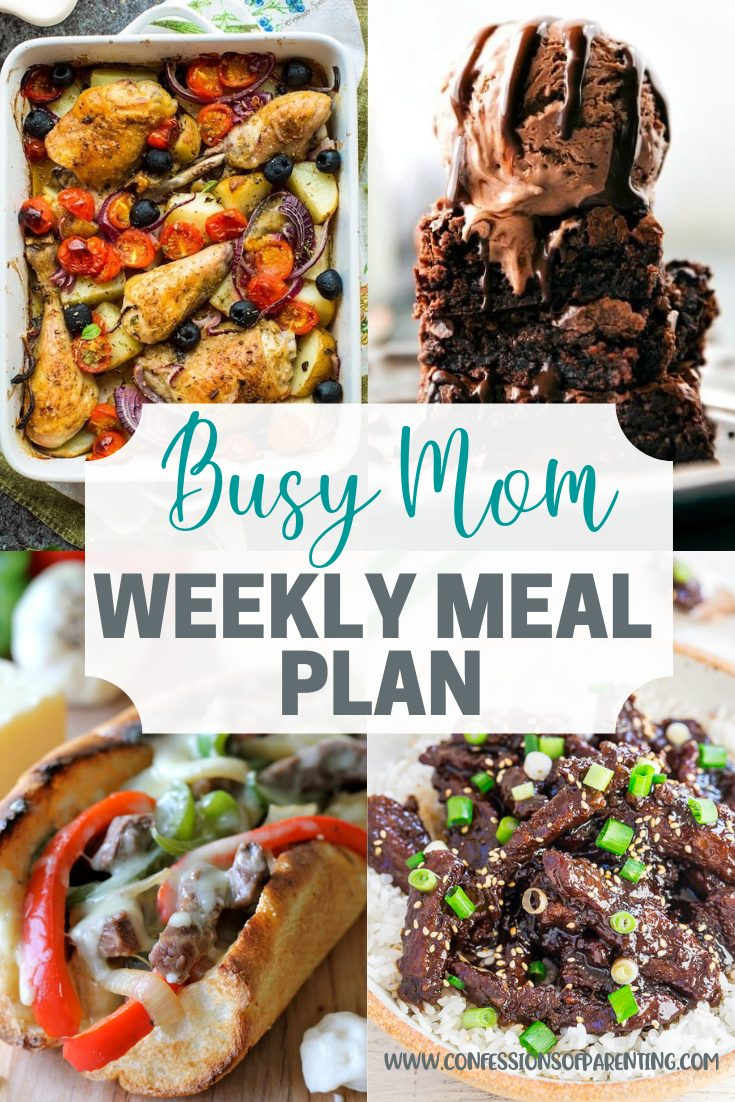 Easy and simple recipes for every family. This simple weekly meal plan for families is perfect to take the guess work out of dinner time!