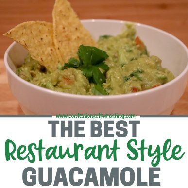 Our family loves chips and  guacamole! Every time we head out to Mexican food we have to get guacamole, so it was a must for us to learn how to make restaurant style guacamole at home, This is the best guacamole you will ever make at home!