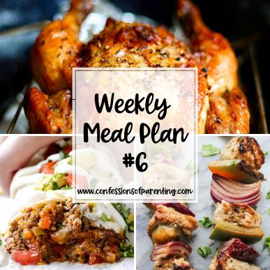 This simple weekly meal plan for families is perfect for the family always on the go! Each recipe is simple, easy, and most importantly extremely delicious!
