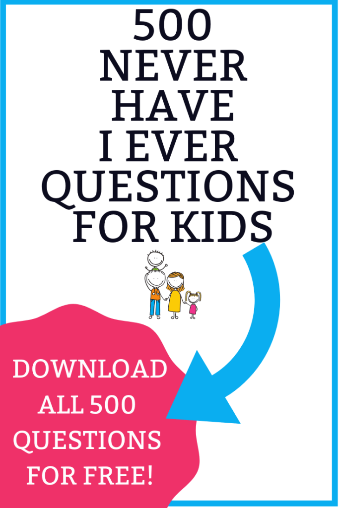 Are you looking for a Never Have I Ever Clean version that is just plain funny? We have everything you need! Over 500 Never Have I Ever Question Cards free to download that are clean and perfect for kids! We even include how to play Never Have I Ever without drinking which is a huge bonus! So don't forget to download Never Have I Ever Questions for Kids at the end of the post!