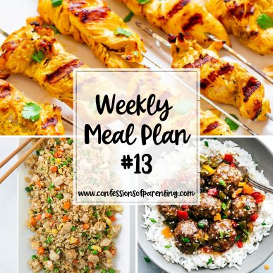Coming up with dinner can be a challenge. This weekly meal plan for bustling moms will take that off your plate while helping you get through the week!