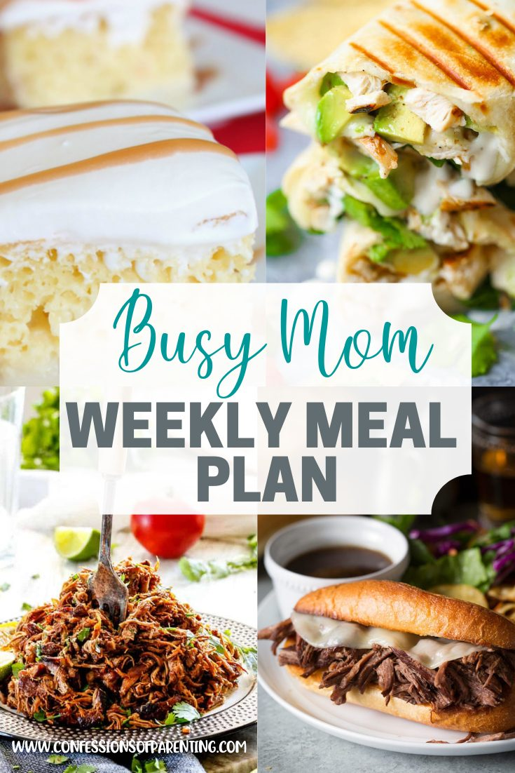 The hardest part of dinner time is coming up with what to eat. Let our effortless weekly meal plan for families help you!