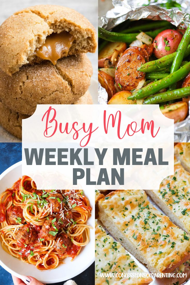 Do you only find complicated recipes that are time-consuming? This weekly meal plan with straightforward recipes for families is your perfect solution!