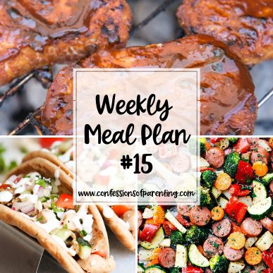 Sometimes life gets so busy that we forget to plan dinner. Thankfully this weekly meal plan for hustling moms is here to help!