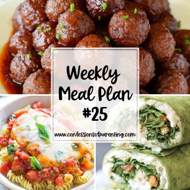 Being a good mom doesn't mean you can't use helpers to make life easier. Use our weekly meal plan for devoted moms to help you in your dinner slump!