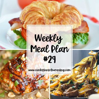 Life involves so much that it sometimes becomes a juggling act. Take out the need to plan dinner though with our weekly meal plan for involved moms!