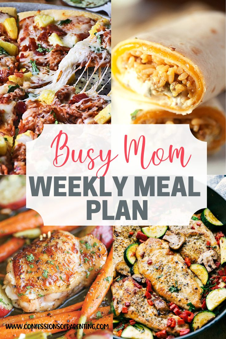 Do you feel so overwhelmed that dinner sometimes takes the back burner? Use our weekly meal plan for swamped moms to simplify dinnertime and your life!