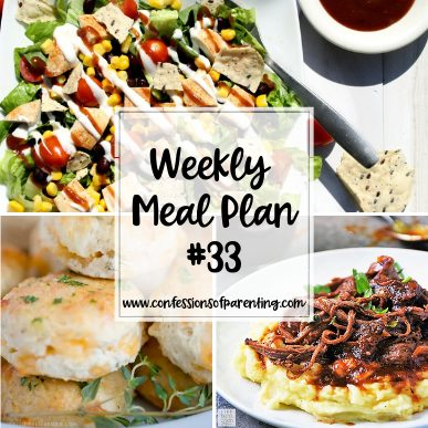 Don't let dinner weigh down your already heavy load. Use our weekly meal plan for overloaded moms to unload your very full plate and make dinnertime easier!