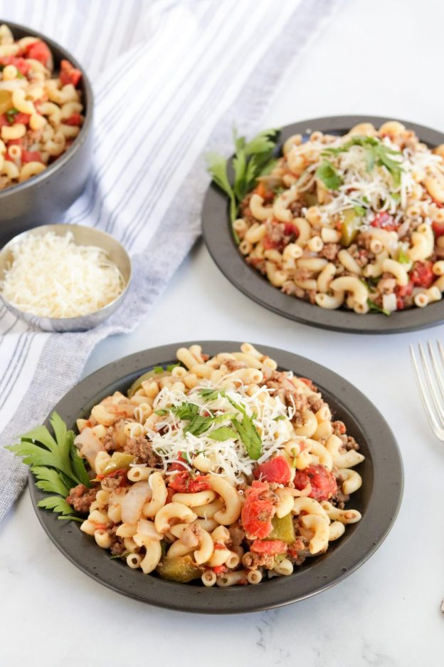 Are you looking for the perfect comfort food? Well, look no further because this American Chop Suey Recipe is the perfect meal for busy families!