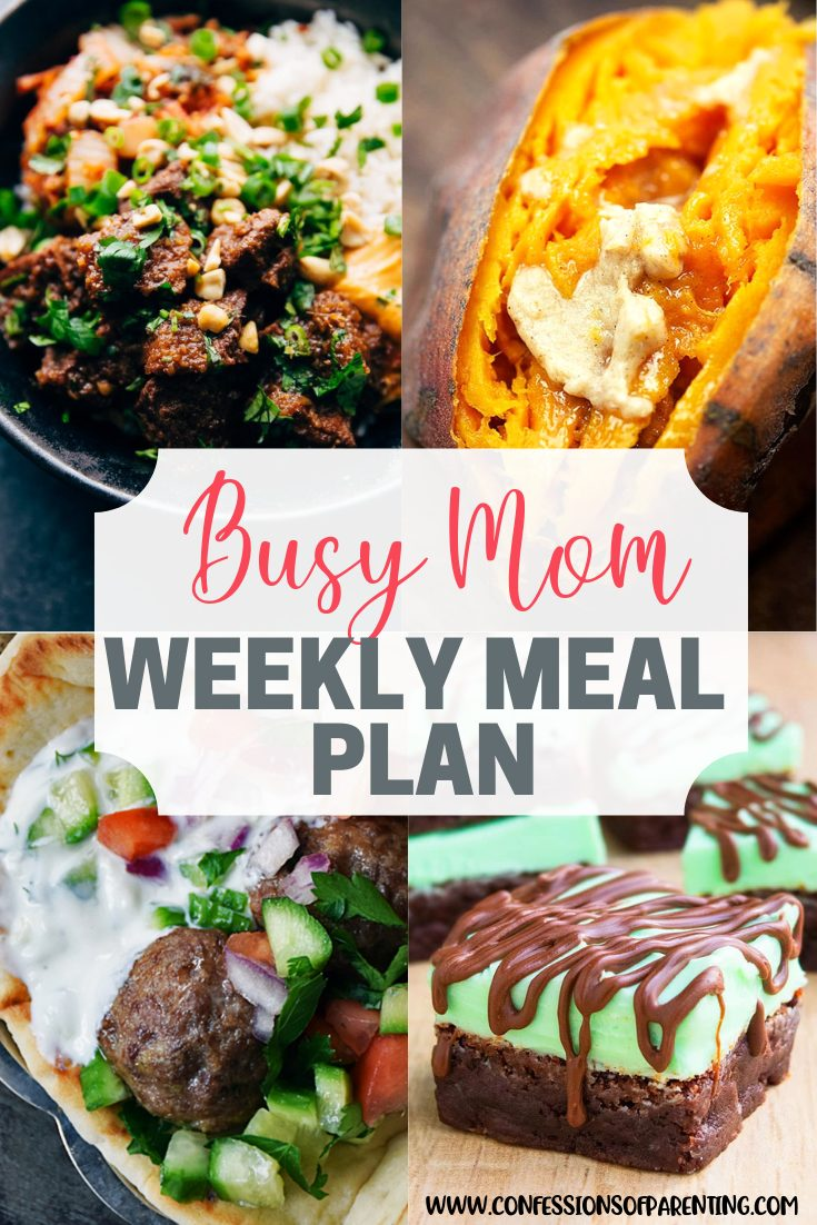 Moms always have a full schedule. Our weekly meal plan for moms with a full plate can ease that schedule and put delicious food on your plate instead!
