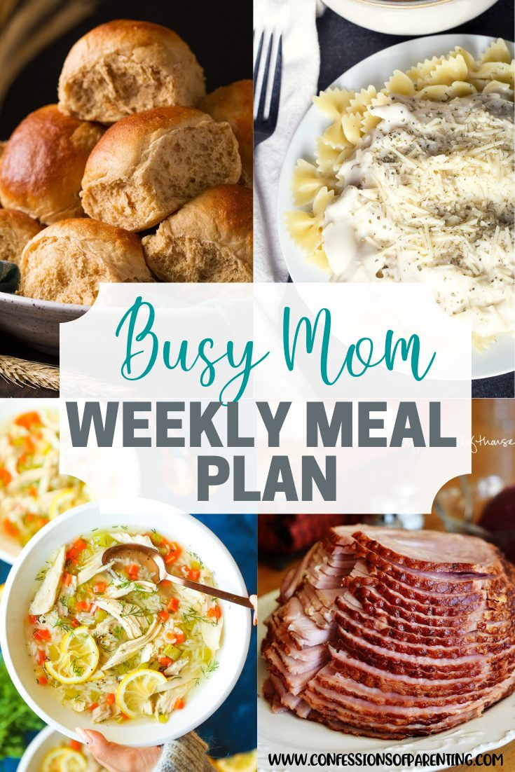 Who wants to add the problem of planning dinner to their list? Use our no problem weekly meal plan for families to take that guesswork out of you dinner plans!