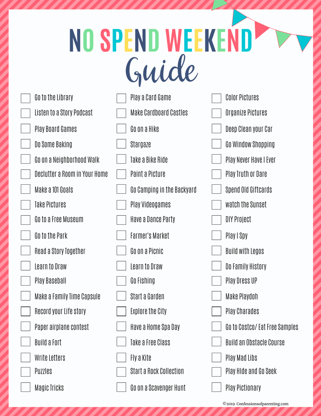 Are you looking to save money while spending time with your family? Check out these no spend weekend family ideas that won't cost a dime!