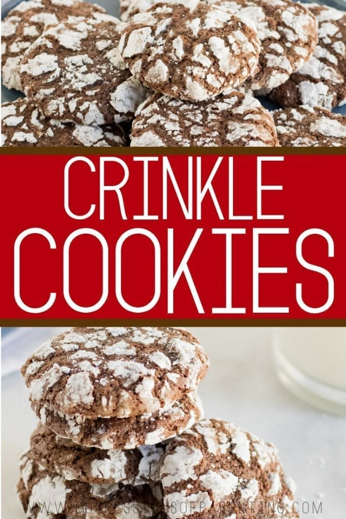 This Chocolate Crinkle Cookie recipe is fudgy almost brownie like inside with a delicious cracked outside. This is one of my favorite Christmas cookies!