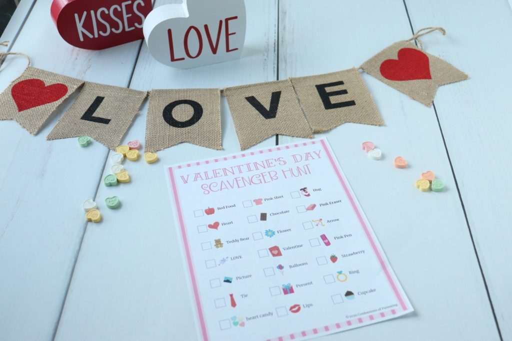 Looking for a great Valentine's Day idea for your spouse and kids? A Valentine's Day scavenger hunt is the perfect surprise!