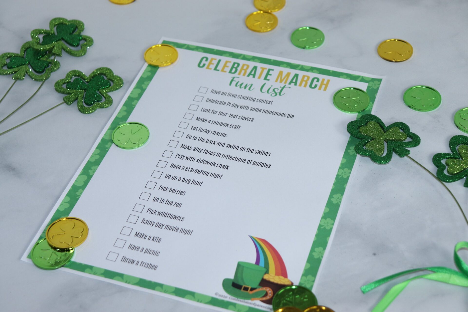 March is here are you ready to celebrate March all month long? As you celebrate why not find fun things to do with on this March bucket list printable!