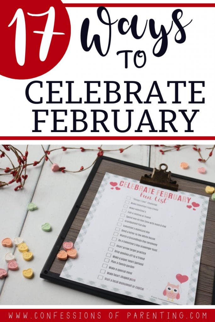 ideas to celebrate february printable