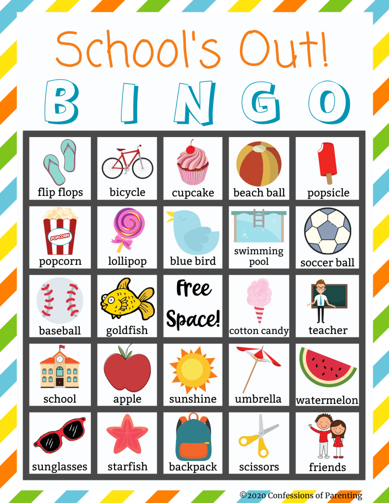The end of the school year is an exciting time for kids and parents. Kick off the end of your school year with this fun and free School is Out Bingo Printable!