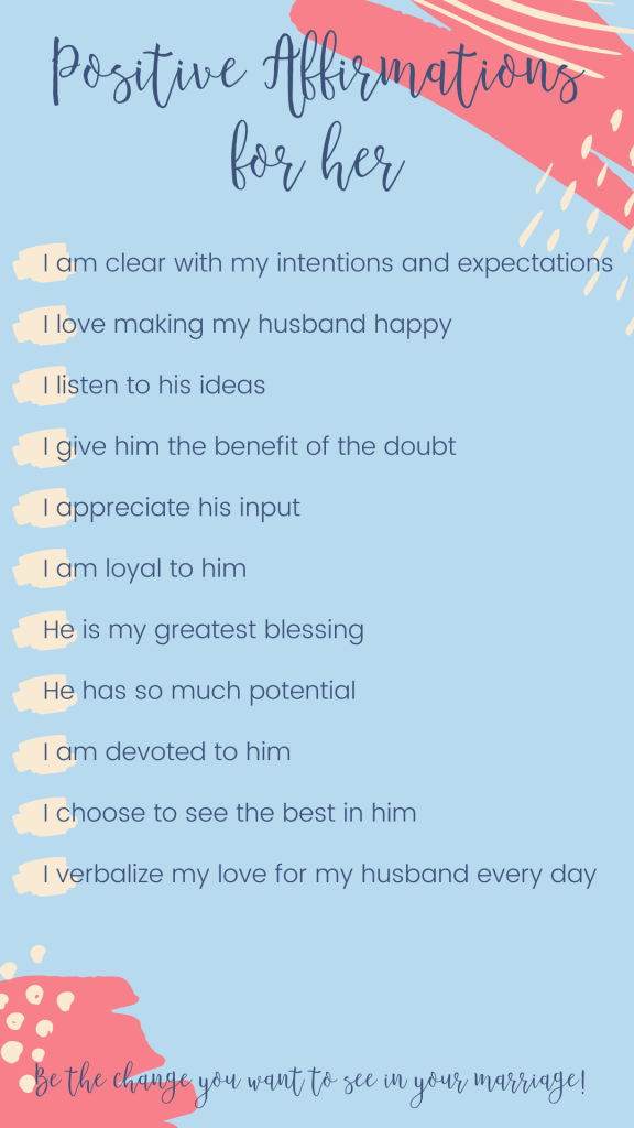 Looking for positive affirmations for marriage to help make your marriage stronger? We have great positive affirmations to help reconnect on a deeper level!