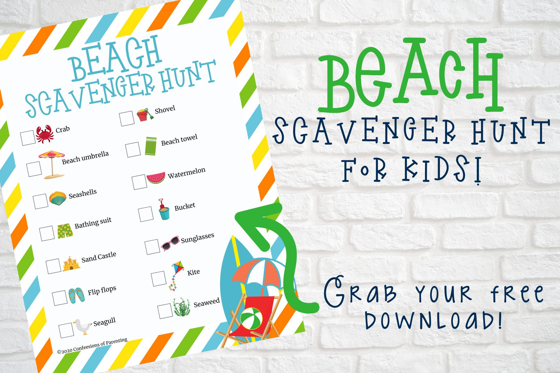 This beach scavenger hunt is the perfect activity to keep your little ones busy and entertained while you are at the beach!