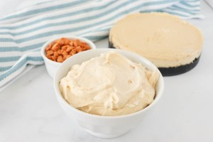 Peanut Butter Whipping Cream is a delicious twist on a traditional homemade whipping cream. It's nutty and creamy and would be delicious on your favorite desserts!