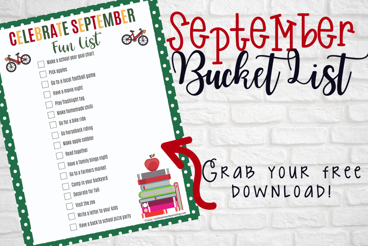The school year is beginning and fall weather is sneaking up on us! It's time to celebrate September with some of these fun family September bucket list ideas!