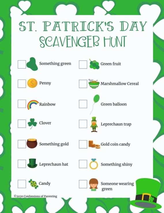 St. Patricks Day is just around the corner! Here's the perfect St. Patrick's day scavenger hunt to help make this holiday extra special and fun for your kiddos.