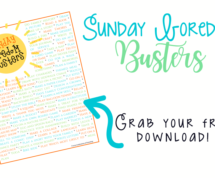 If you've ever felt helpless and out of ideas for your children on a Sunday night, this is the article for you. Fight Sunday boredom with these fresh ideas and inspiration to keep your kids busy, having fun, and tired by bedtime!