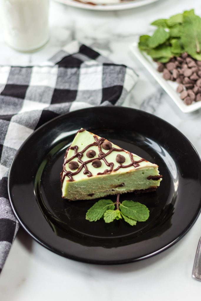 This Instant Pot Mint Chocolate Chip Cheesecake is absolutely to die for! Your Instant Pot will help you make the perfect cheesecake every time.
