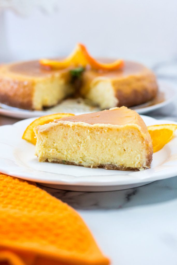 You haven't lived until you've had this Instant Pot Orange Butterscotch Cheesecake! Your Instant Pot will help you make the BEST cheesecake, and this orange cheesecake with butterscotch topping is so yummy!