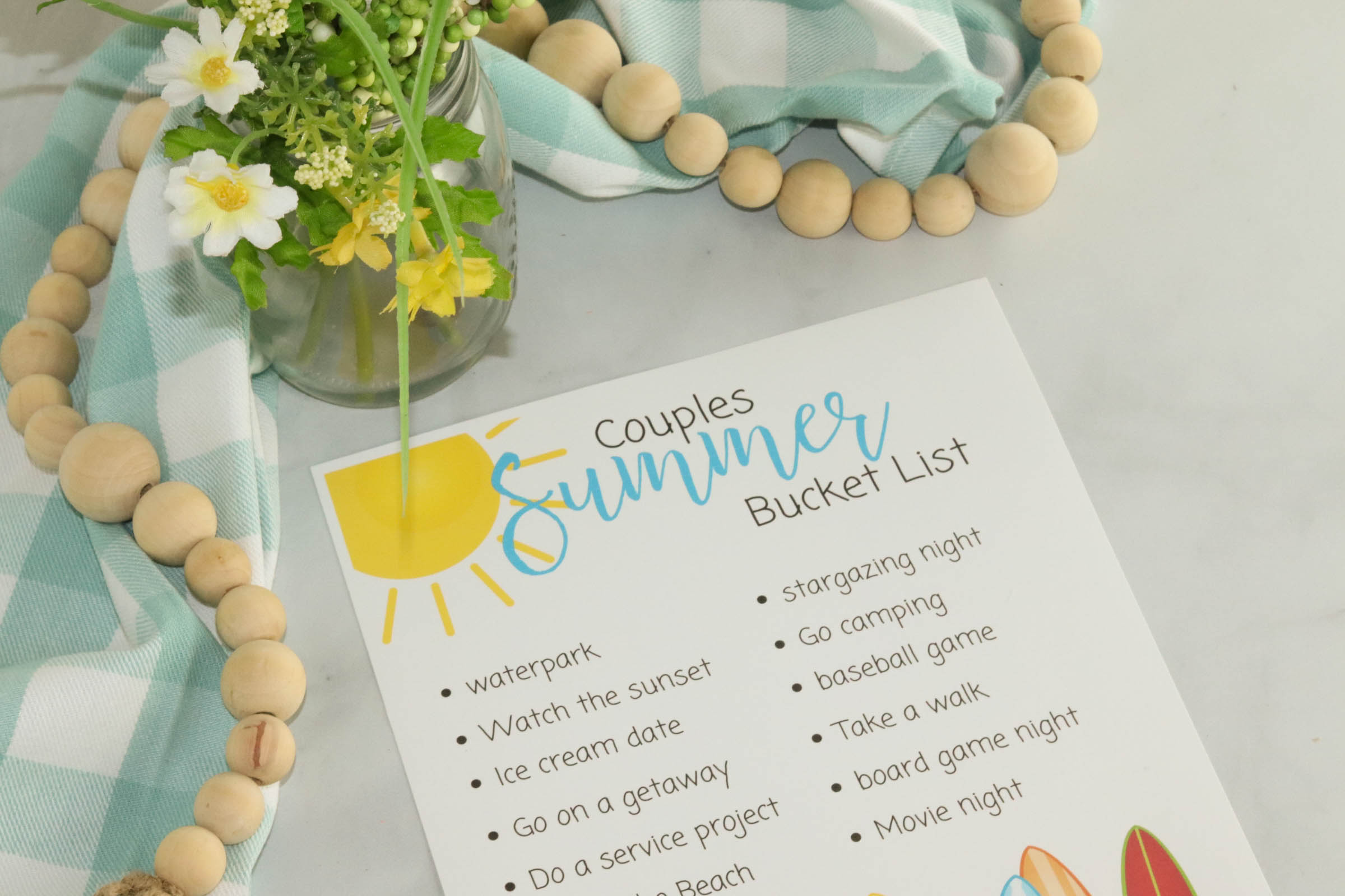 Summer vacation isn't just about your kids! Add a little fun into you and your spouse's summertime with this summer bucket list for couples.