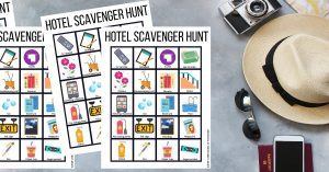 Planning to spend some time in a hotel with your family soon? Give your kids a great activity to kill the hotel boredom with this fun Hotel Scavenger Hunt!