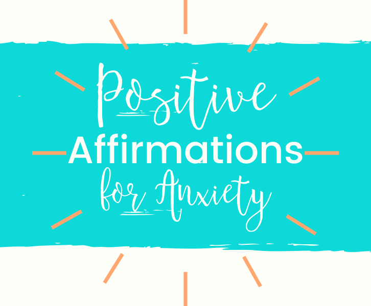 a picture of text that says positive affirmations for anxiety.