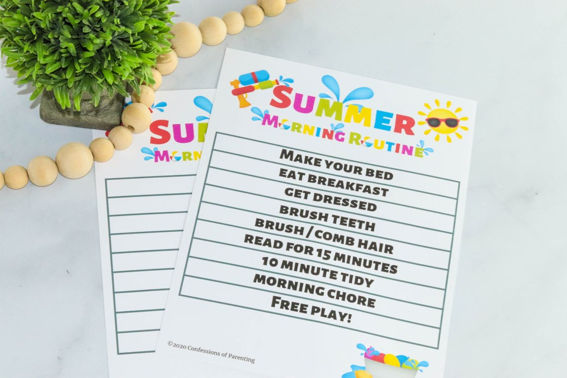 Summer Morning routine for kids-4